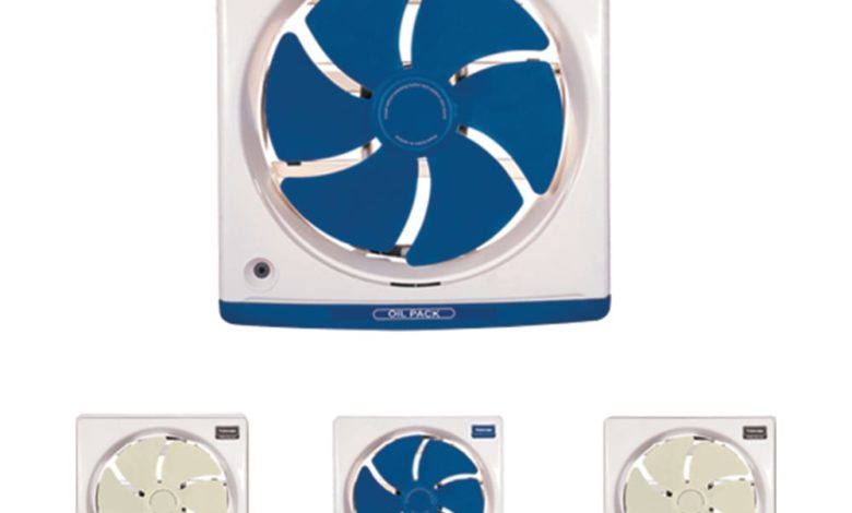 toshiba kitchen ventilating fan 30cm with off white and dark blue colors vrh30j10 1 6